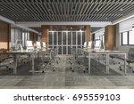3d rendering business meeting... | Shutterstock . vector #695559103