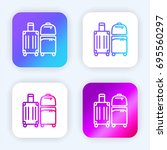 luggage bright purple and blue...