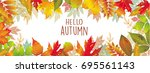 seasonal vector banner of... | Shutterstock .eps vector #695561143