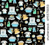 vector seamless pattern with... | Shutterstock .eps vector #695570053