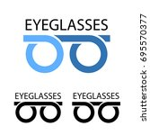 eyeglasses simple symbol vector | Shutterstock .eps vector #695570377