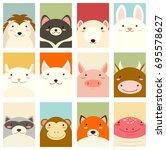 banners  backgrounds  flyers ... | Shutterstock .eps vector #695578627