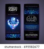 disco corporate identity...   Shutterstock .eps vector #695582677