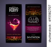 disco corporate identity... | Shutterstock .eps vector #695582707
