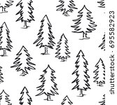 Black And White Doodle Pine...
