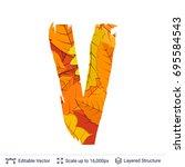 autumn fall bright orange... | Shutterstock .eps vector #695584543