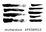 brush strokes. ink painting.... | Shutterstock .eps vector #695589013