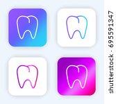 premolar bright purple and blue ...