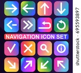 set of web navigation icons....