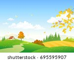 vector cartoon drawing of an... | Shutterstock .eps vector #695595907