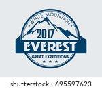 everest   white mountain.... | Shutterstock .eps vector #695597623