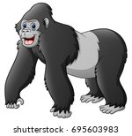 vector illustration of cartoon... | Shutterstock .eps vector #695603983