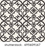 ornamental seamless vector... | Shutterstock .eps vector #695609167