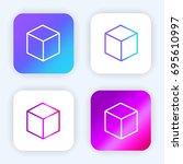 cube bright purple and blue...