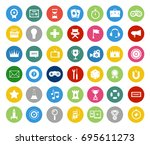 collection of game design and... | Shutterstock .eps vector #695611273