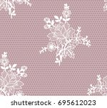 seamless floral lace pattern ...