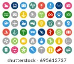 collection of vector travel ... | Shutterstock .eps vector #695612737