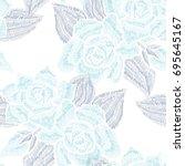 elegant seamless pattern with...   Shutterstock .eps vector #695645167