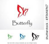butterfly logo template design...