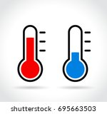 illustration of cold and hot...   Shutterstock .eps vector #695663503