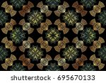 abstract delicate pattern for... | Shutterstock .eps vector #695670133