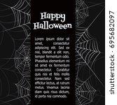 spider web. black and white... | Shutterstock .eps vector #695682097