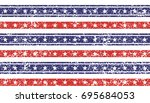 memorial day  stars and stripes ... | Shutterstock .eps vector #695684053