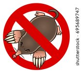 anti mole sign | Shutterstock .eps vector #695689747