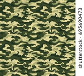 green camouflage with grunge... | Shutterstock .eps vector #695690473