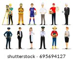 set of people of different... | Shutterstock .eps vector #695694127