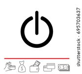 power on off icon. flat design...