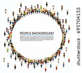 large group of people in the... | Shutterstock .eps vector #695704153