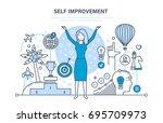 self improvement. self... | Shutterstock .eps vector #695709973