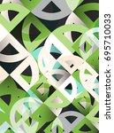 cut paper circles  mosaic mix... | Shutterstock .eps vector #695710033