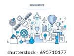innovation  creative thinking... | Shutterstock .eps vector #695710177