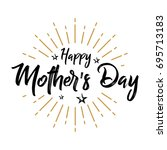 happy mother's day   firework   ... | Shutterstock .eps vector #695713183