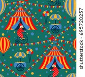 circus seamless pattern with... | Shutterstock . vector #695720257