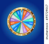 wheel of fortune isolated | Shutterstock .eps vector #695729017