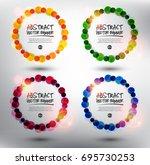 abstract vector banner set of 4.... | Shutterstock .eps vector #695730253