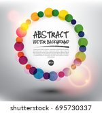 abstract vector background.... | Shutterstock .eps vector #695730337