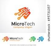micro tech logo template design ... | Shutterstock .eps vector #695731357