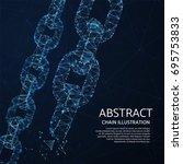 chain links 3d network vector... | Shutterstock .eps vector #695753833
