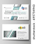 business card templates. easy... | Shutterstock .eps vector #695754943