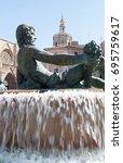 Turia Neptune Fountain At Plaz...