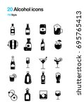 alcohol and beverage fill... | Shutterstock .eps vector #695765413
