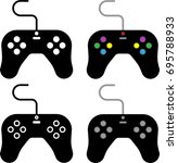 game controller icon vector...   Shutterstock .eps vector #695788933