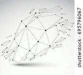 3d vector low poly deformed... | Shutterstock .eps vector #695796067