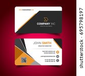 light business card   Shutterstock .eps vector #695798197