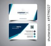 blue elegant business card | Shutterstock .eps vector #695798227