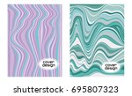cover layouts collection with... | Shutterstock .eps vector #695807323